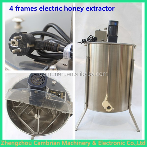 Hot selling stainless steel manual hand crank honey extractor with lowest price