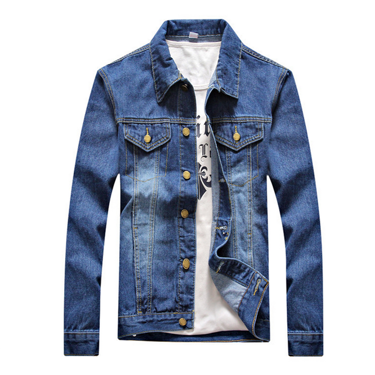 OEM service bulk custom casual mens denim jackets
