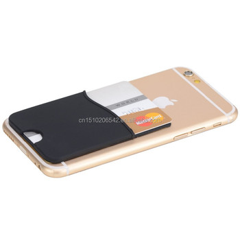 custom design silicone credit card holder back adhesive sticker phone card holder - Phone Card Holder Custom