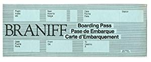 1981 Braniff DFW Boarding Pass Unused Dallas Fort Worth 3 Languages