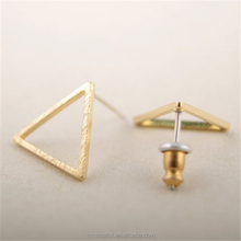 E039- Gold&Silver&Rose Simple desgion Open Triangle Studs Earrings for women, womens stud earrings Jewelry, Fashion Ear Studs