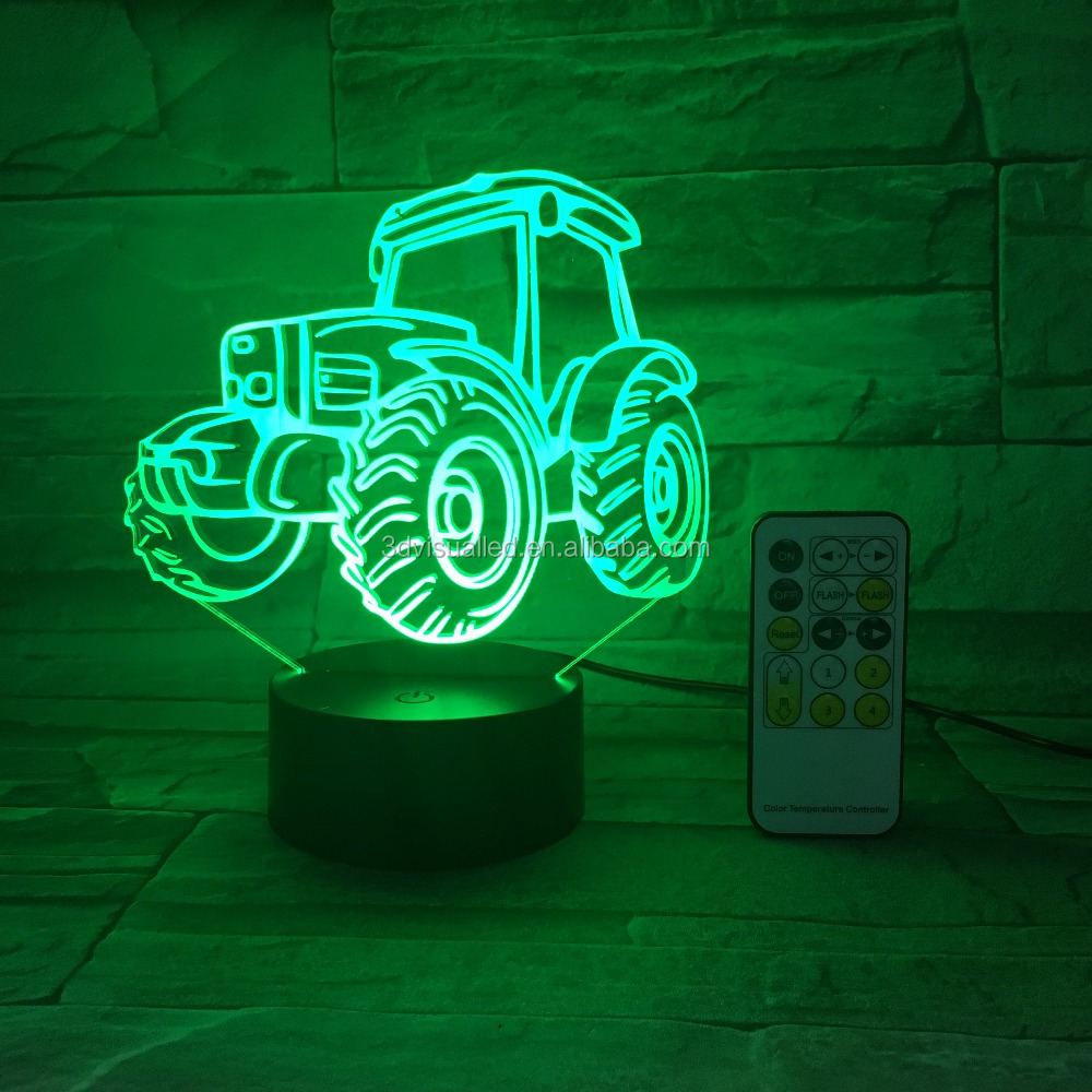 Promotion item 3d illusion led night light lamp for holiday gift