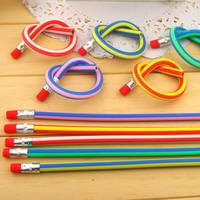 18cm Novelty Pen Creative Flexible Pencil Folding Continuously Soft Pencil with Rubber