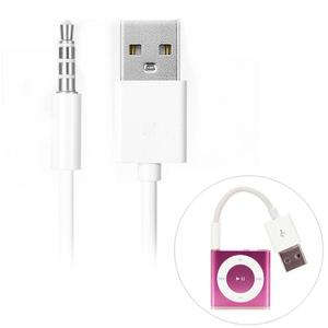 3.5mm Jack To USB Power Charger Sync Transfer Data Cable For iPod Shuffle 3rd 4th 5th Gen and all.