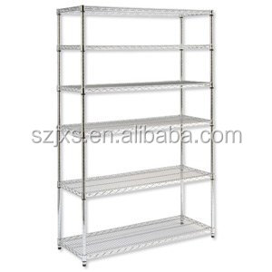 6-Chrome wire shelving metal shelf rack,heavy duty chrome wires shelving for warehous