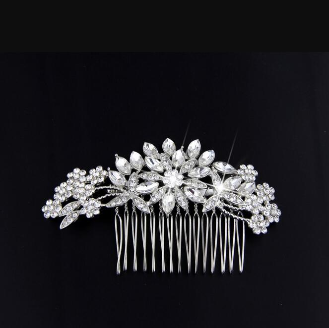 New product alloy blade diamond wedding hair accessories фото