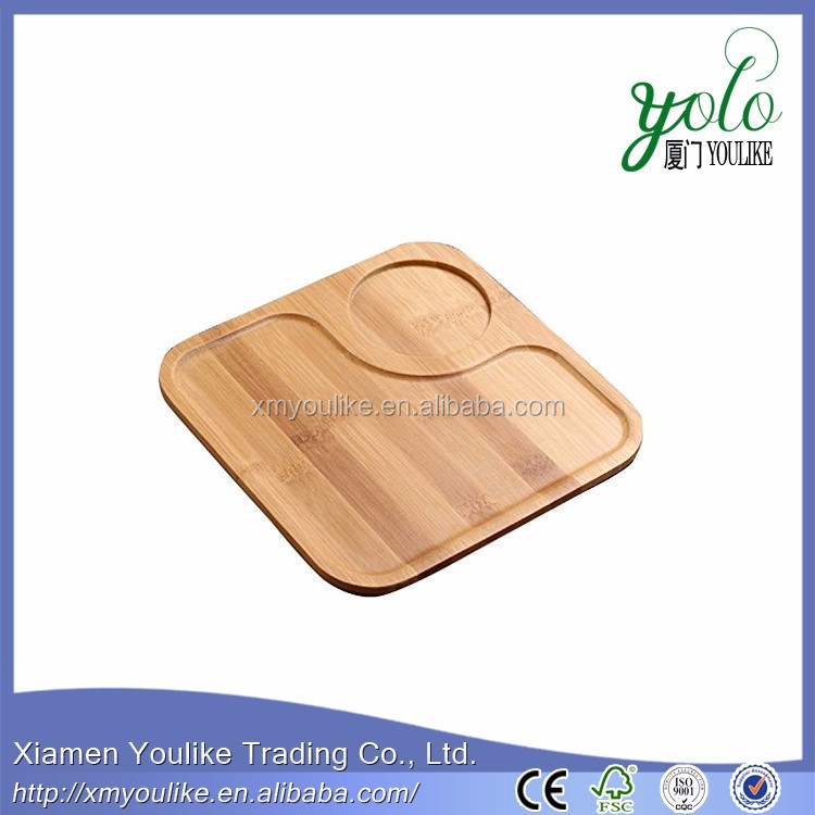 Natural green eco-friendly bamboo serving tray for tea