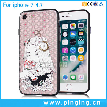 best selling trend phone accessories mobile print cover for iphone 7