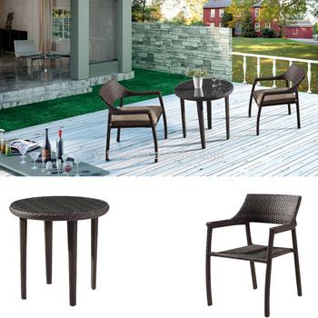 Neue Produkt Mini Garten Rattan Tisch Set Cafe Verwendet Gartenmobel