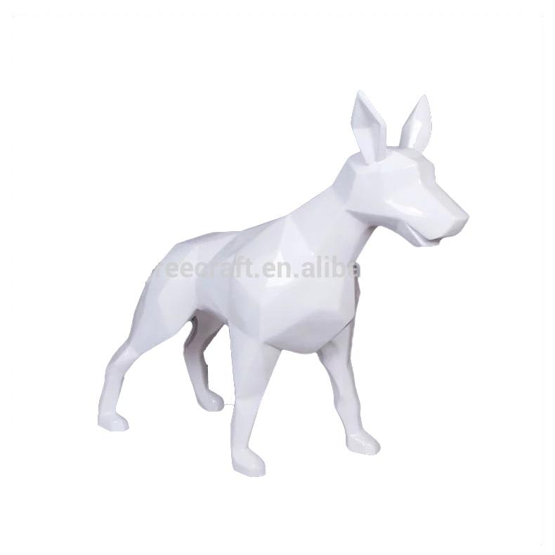 Fiberglass Sculpture Dog Statue White Animal Sculpture Wolf Dog For Sale -  Buy Fiberglass Sculpture,White Animal Sculpture,Wolf Dog For Sale Product