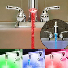 led faucet light kitchen faucet with led light water glow led faucet light