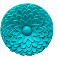 China manufacture big size round shape chrysanthemum sunflower silicon cake pan mold