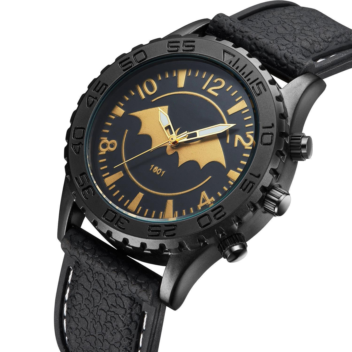 Waterproof sport outdoor men's watches wholesale Silicone Rubber Bat Watches For Men