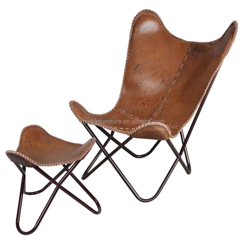 Hardoy vlinder stoel met roestvrij stalen frame bkf stoel for Stoel metalen frame