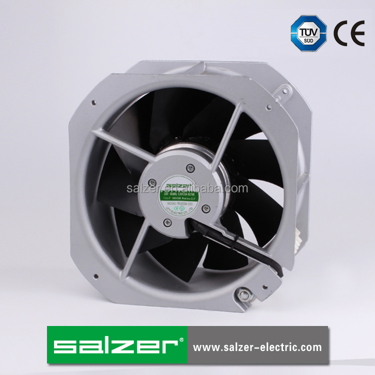 SALZER PD225M-220 225X225X80mm TUV CE Approved AC Axial Fans with Metal Impeller IP54