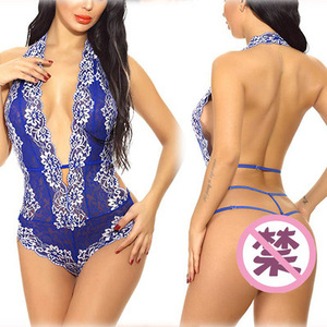 Women Lingerie One Piece Fishnet Teddy Lace Cups Bodysuit Mesh Babydoll