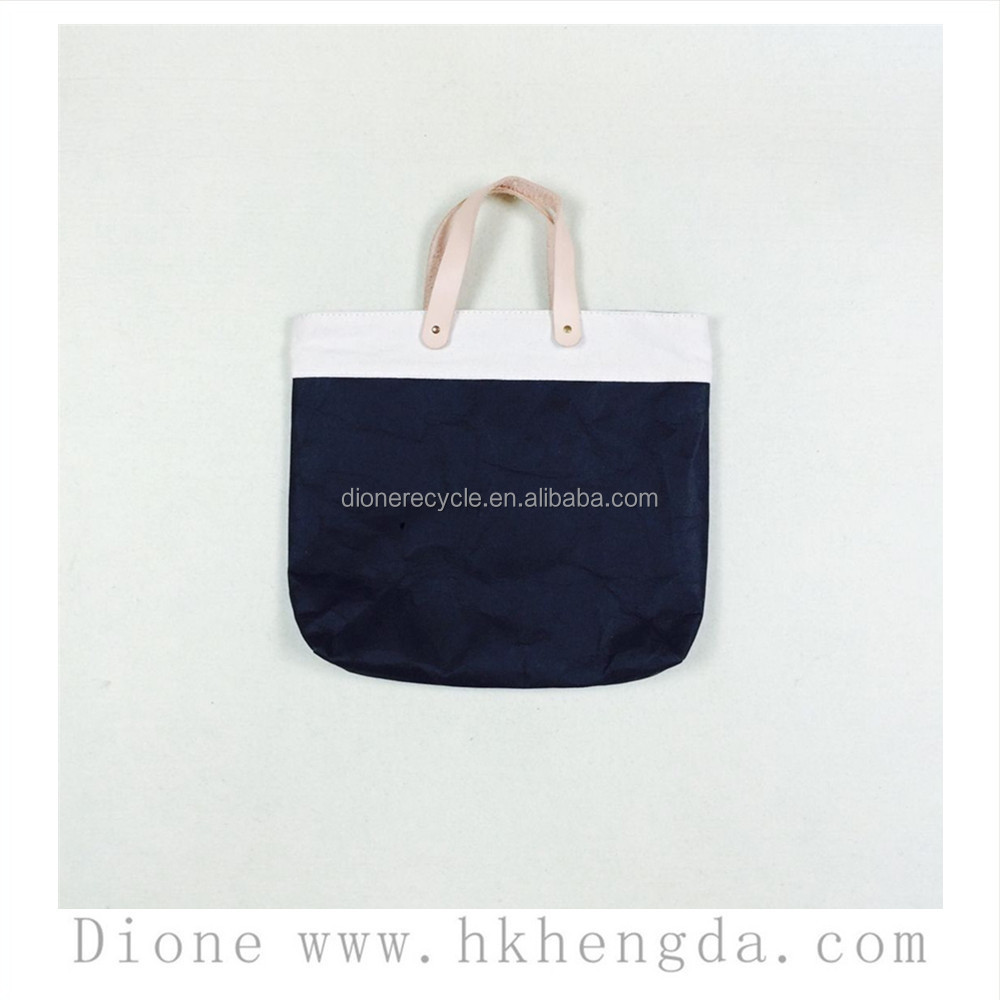washable kraft leather like paper tote bags