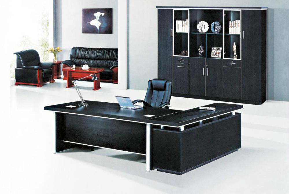 2015 top madera melamina en forma de l escritorio for Diseno de oficinas gerenciales