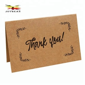 High end customized gift kraft paper thank you note cards