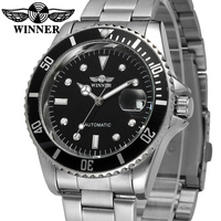 Hot Selling Winner Brand Classic Men Stainless Steel Automatic Mechanical Custom Logo Watch