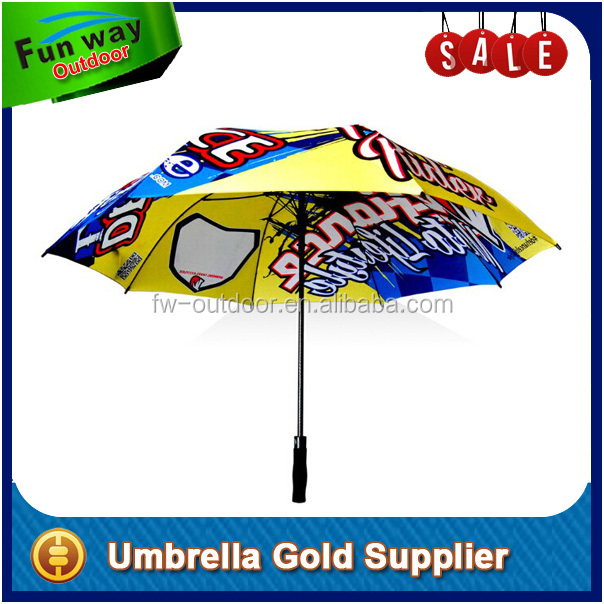 All over full printed heat transfer printing golf umbrella