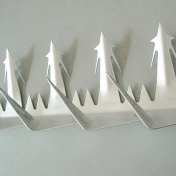 galvanized razor security anti climb shark tooth metal wall spike