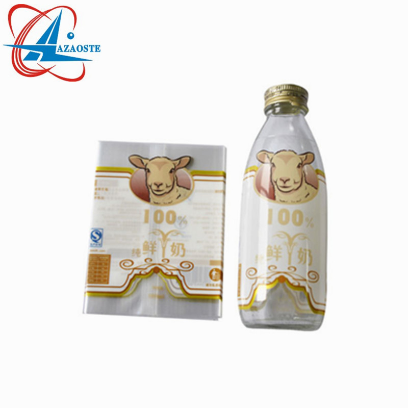 Good quality custom PVC PET plastic bottle label