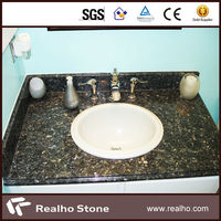Prefab Blue Pearl Granite Vanity Top For Bathroom