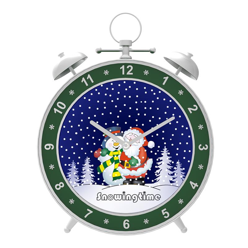 Snowing Christmas Alarm Clock Shape Home Decor Clock from ...