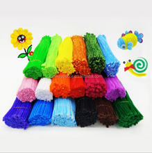 Colorful Chenille Stems Kids Educational DIY Toy Pipe Cleaner Hand Crafts