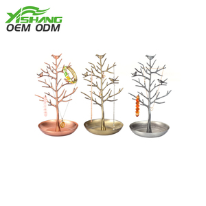 With best quality and low price OEM vintage metal jewelry display tree stand