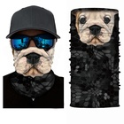 Dog Custom Logo Camo Multifunction Neck Stretchy Microfiber Tube Bandana Headband