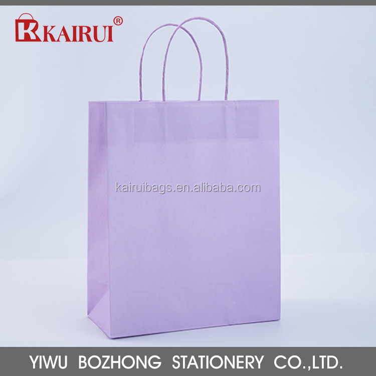 Heavy weight capacity fancy design low price kraft paper bag