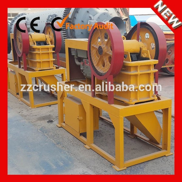 PE-150x250 Mobile Diesel Engine Stone Jaw Crusher in the Middle or end Crash