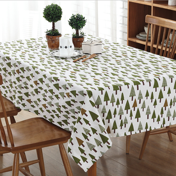 Christmas Tree Prints Pattern Lace Tablecloths Table Cloth Lytc024
