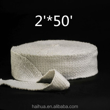High Temperature Header Exhaust Pipe Insulation Wrap Kit 1 Roll White 1/16u0026quot; & High Temperature Header Exhaust Pipe Insulation Wrap Kit: 1 Roll ...