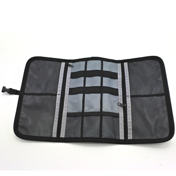 48be075002 Gray Roll Up Usb Cable Organizer Travel Bag - Buy Cable Organizer ...