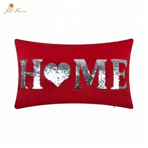 christmas decorative cushion with sequin embroidery for home decor sofa bedding and chair