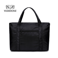 2018 New high quality black color oxford cloth tote bag handbag for travel shopping