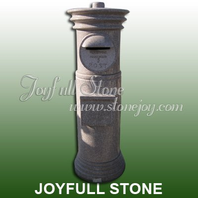 Decorative Outdoor Stone Mailbox Post