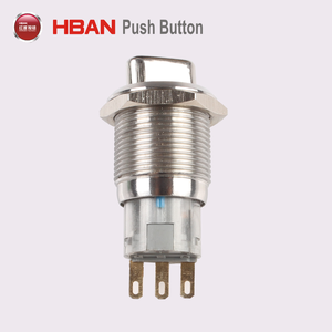 19 mm 1no 1nc METAL ROTARY Push Button Switch