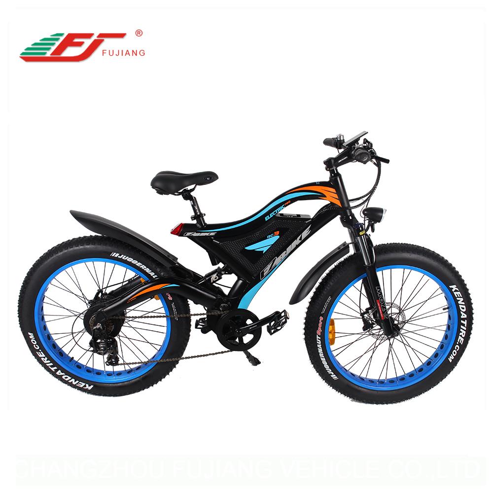 5e757250fb0 750W/1000W full suspension mountain ebike chinese electric fat bike ...