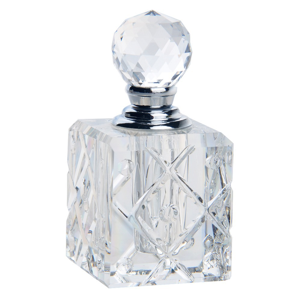 """The perfume bottle is not included. The perfume bottle measures 5"""" from top of zinnia to bottom of glass dauber. The neck measures 2"""" tall with a 1"""" diameter top opening and 3"""" diameter bottom opening."""