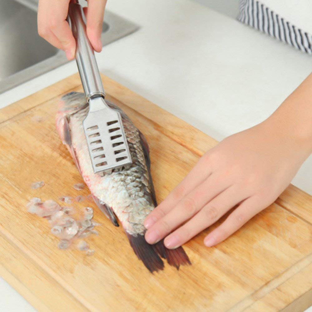 1Pc Stainless Steel Fish Scales Fast Fish Cleaning Knife Skinner Fish Skin Scraper Fishing Cleaning Remover Kitchen Tools Gadget Kangsanli