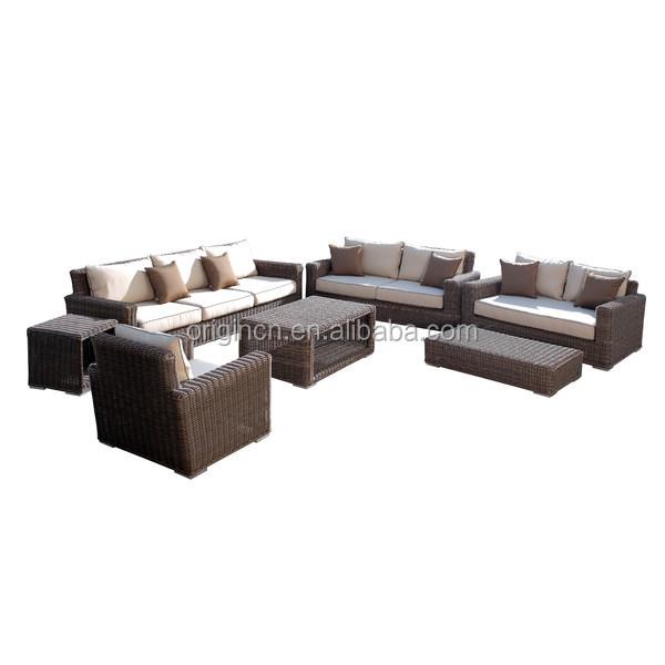 Lujo ronda rattan grande jardín uso 8 plazas sofá y muebles de ...