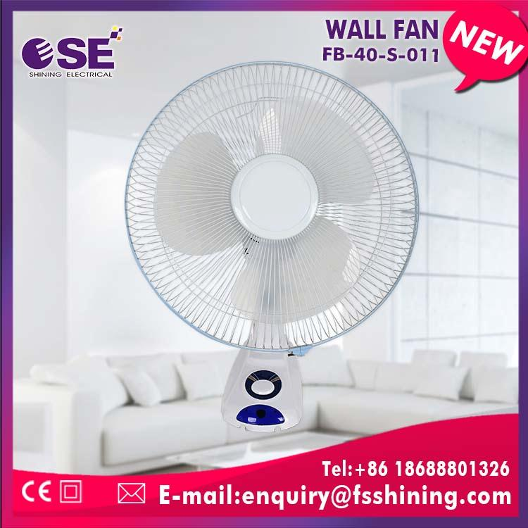 tilting angle small wall mount fans with 3PP blade
