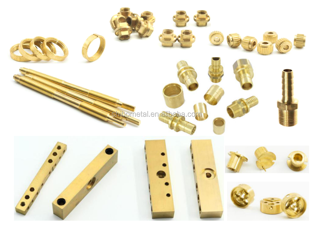 CNC machinery hardware parts brass and bronze pneumatic components, sleeve, screw, hydraulic hose accessories
