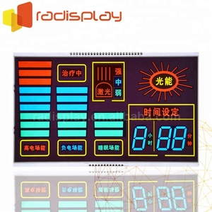 Custom Monochrome 7 Segment 8 Inch Lcd Display Panel