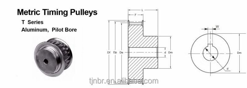 aluminum timing belt pulleys