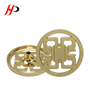 fancy wholesale suit 1 inch 24mm round alloy metal gold blanks buttons for sale